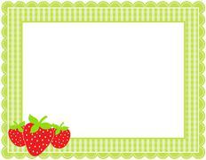 Strawberry Gingham Frame Stock Illustration