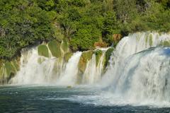 Stock Photo of Skradinski buk waterfall Krka National Park Dalmatia Croatia Europe