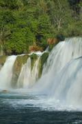 Skradinski buk waterfall Krka National Park Dalmatia Croatia Europe - stock photo
