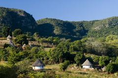 Stock Photo of Adobe houses Thohoyandou Venda Vhembe District Limpopo Province South Africa