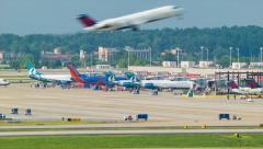 Stock Video Footage of Beautiful Real Time Atlanta Airport Scene