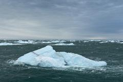 Icebergs floating on the sea off Nordaustlandet Svalbard Archipelago Svalbard Stock Photos
