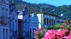 Imperial mansions with flowers Stock Footage