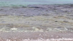 Beach (Caribbean Sea) at West Punt Curacao Stock Footage