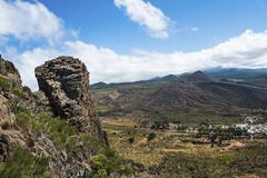 Volcano landscape near Santiago del Teide Tenerife Canary Islands Spain Europe - stock photo