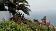 Spain The Canary Islands Tenerife 021 residential buildings on a slope Stock Footage