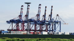 Bremerhaven Container Terminal / Timelapse, Germany Stock Footage