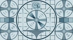 Tv screen with Indian Head Test Pattern Stock Footage