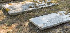 sightseeing in corfu city: interesting place - ancient old british cemetery o - stock photo