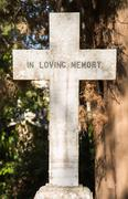 sightseeing in corfu city: interesting place - ancient and old british cemete - stock photo