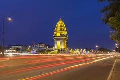 Stock Photo of the independence monument in phnom penh, cambodia