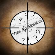 visa application - stock illustration