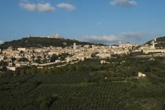 Historic centre Assisi Umbria Italy Europe Stock Photos