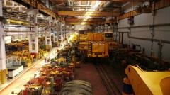 Stock video footage huge engineering department plant Stock Footage