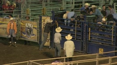 Rodeo bull riding 6 slowmotion Stock Footage