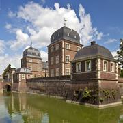 barockes wasserschloss ahaus, technische akademie, ahaus, westmuensterland, m - stock photo