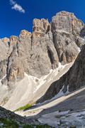 dolomiti - piz da lech mount - stock photo