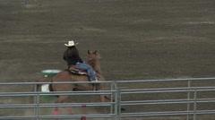 Rodeo barrel racing girl 1 slowmotion Stock Footage