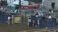 Rodeo barrel racing girl 3 slowmotion Stock Footage