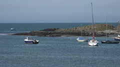 Coastline and bay, rhosneigr, anglesey, wales, uk Stock Footage