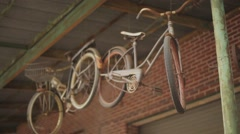 Antique Bicycles Stock Footage
