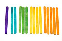 Counting with popsicle sticks Stock Photos