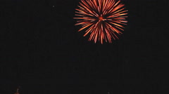Fireworks in the black sky Stock Footage
