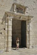 Sea Gate old town Unesco World Heritage Site Trogir Dalmatia Croatia Europe Stock Photos