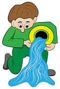 zodiac sign - aquarius - stock illustration