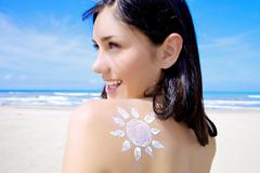 i have the sun on my shoulders - stock photo