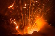 Volcano yasur eruption Stock Photos