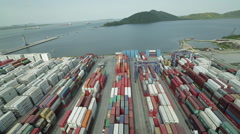 Aerial Image of a Port #10 Stock Footage