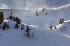 Wind on the Blaseneck peak Eisenerzer Alpen mountains Styria Austria Europe - stock photo