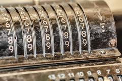 Retro adding machine Stock Photos