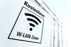 Sign free Wi Fi zone Germany Europe Kuvituskuvat