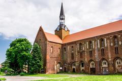 medieval cistercian monastery in kolbacz, poland - stock photo