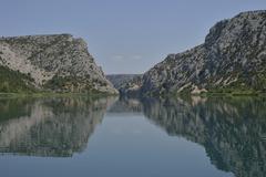 Countryside Krka National Park Sibenik Knin County Dalmatia Croatia Europe - stock photo