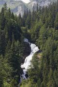 Stuberfall waterfall Nenzinger Himmel Gamperdonatal valley community of Nenzing Stock Photos