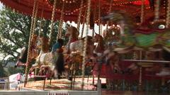 Carosel horse merry go round Fairground Stock Footage