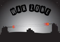 War Zone - stock illustration