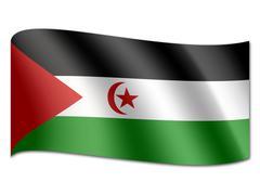 Stock Illustration of flag of western sahara