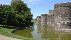 Castle in beaumaris, anglesey, wales, uk Stock Footage
