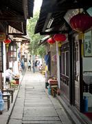 Narrow street, zhouzhuang, jiangsu province, china, asia Stock Photos