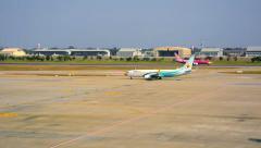 Bangkok, thailand - 14 jan 2014: nok air's aircraft. planes have a characteri Stock Footage