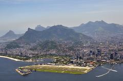 Aerial view, looking at the center of rio de janeiro with santos dumont city  Kuvituskuvat