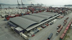Aerial Image of a Port #12 Stock Footage