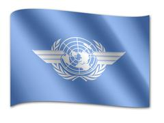 Stock Illustration of flag of the international civil aviation organization, icao