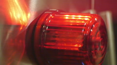 red flashing flash light warning alarm - stock footage