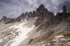 paternkofel mountain, alto adige, italy, europe - stock photo