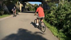 Pittsburgh Bicyclist on a Bike Trail Stock Footage